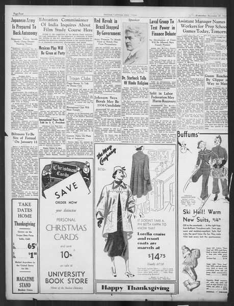Daily Trojan, Vol. 27, No. 47, November 27, 1935