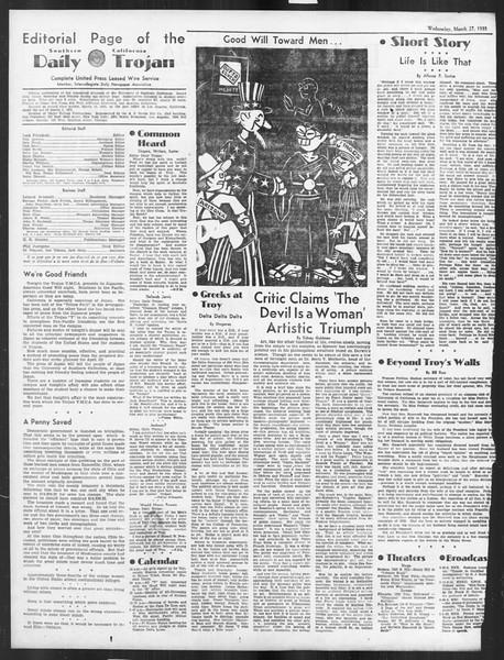 Daily Trojan, Vol. 26, No. 104, March 27, 1935