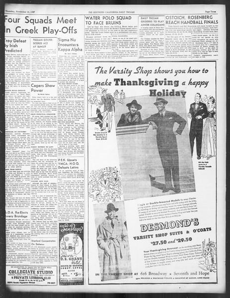Daily Trojan, Vol. 29, No. 43, November 18, 1937