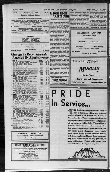 Southern California Trojan, Vol. 9, No. 2, July 03, 1930