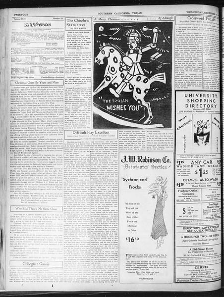 Daily Trojan, Vol. 23, No. 65, December 16, 1931