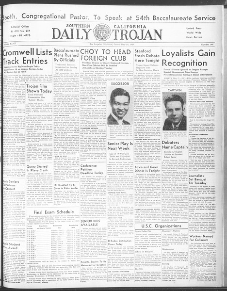 Daily Trojan, Vol. 28, No. 146, May 28, 1937