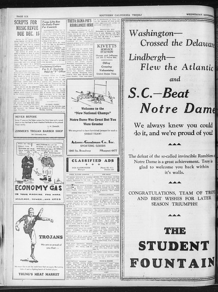 Daily Trojan, Vol. 23, No. 52, November 25, 1931
