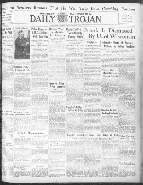 Daily Trojan, Vol. 28, No. 62, January 08, 1937