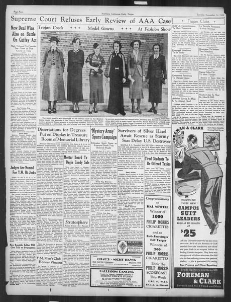 Daily Trojan, Vol. 27, No. 36, November 12, 1935