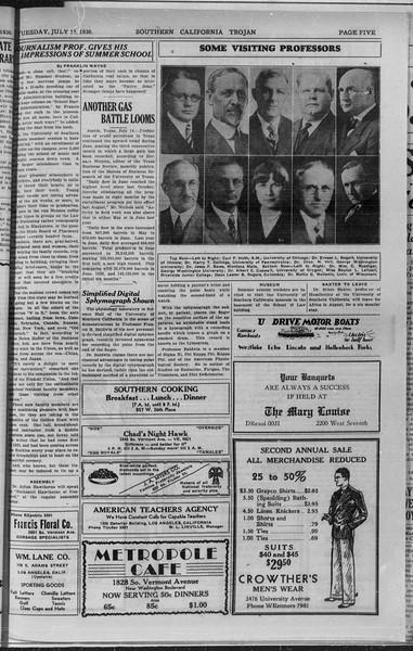 Southern California Trojan, Vol. 9, No. 5, July 15, 1930