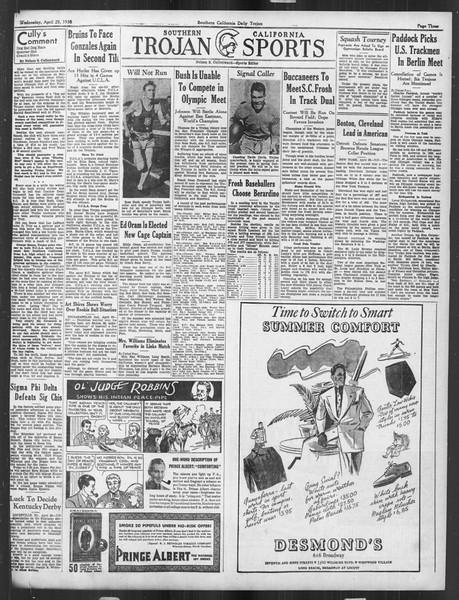 Daily Trojan, Vol. 27, No. 125, April 29, 1936