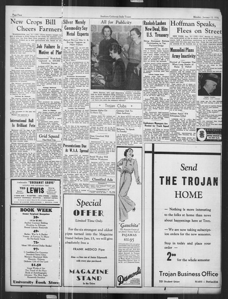 Daily Trojan, Vol. 27, No. 63, January 13, 1936