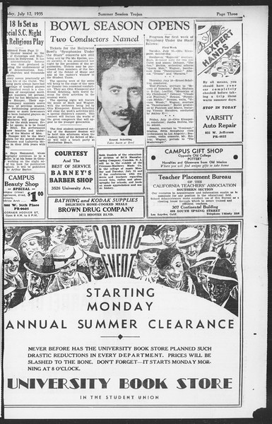 Summer Session Trojan, Vol. 14, No. 8, July 12, 1935