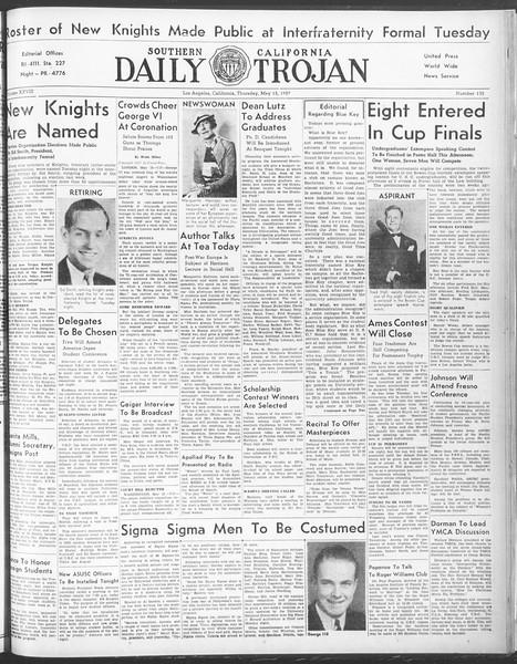 Daily Trojan, Vol. 28, No. 135, May 13, 1937