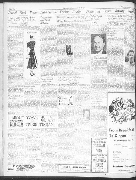 Daily Trojan, Vol. 28, No. 8, September 29, 1936