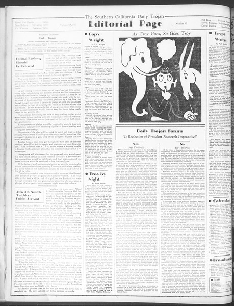 Daily Trojan, Vol. 28, No. 12, October 05, 1936