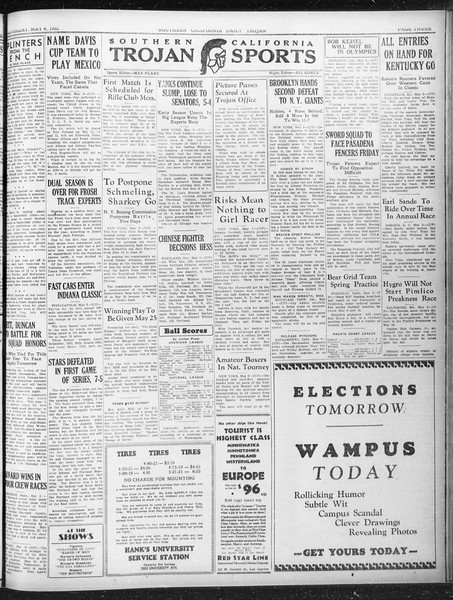 Daily Trojan, Vol. 23, No. 138, May 04, 1932