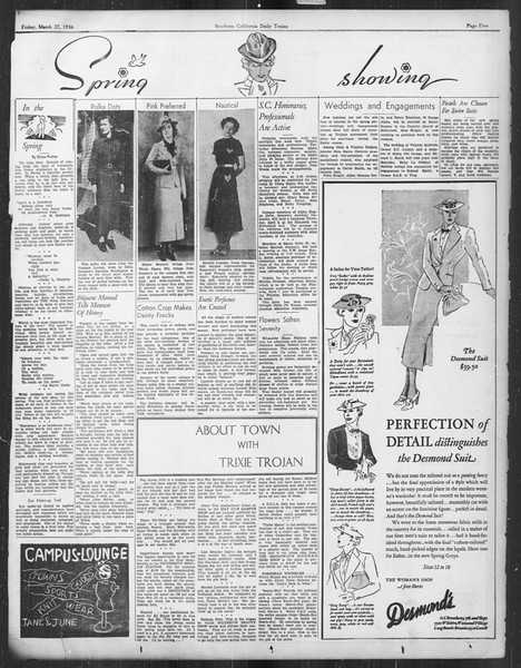 Daily Trojan, Vol. 27, No. 108, March 27, 1936