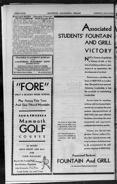 Southern California Trojan, Vol. 9, No. 3, July 08, 1930