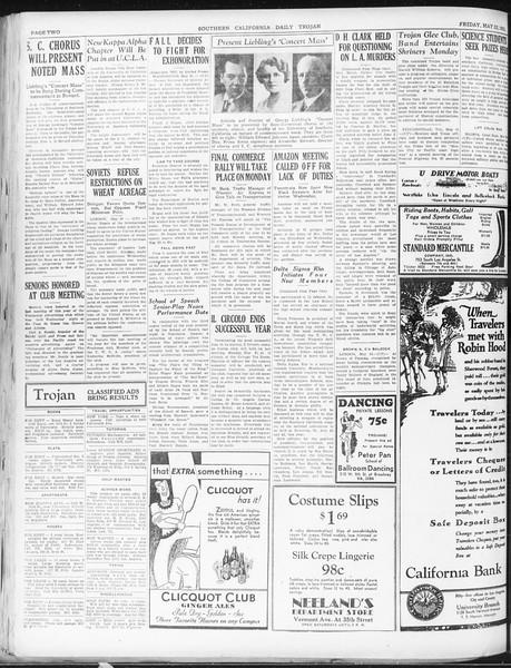 Daily Trojan, Vol. 22, No. 149, May 22, 1931