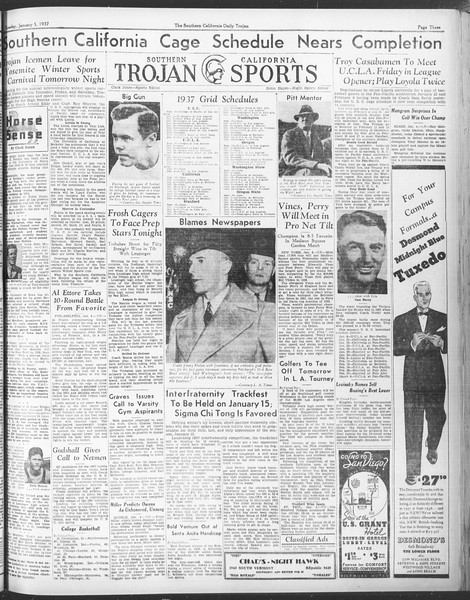 Daily Trojan, Vol. 28, No. 59, January 05, 1937