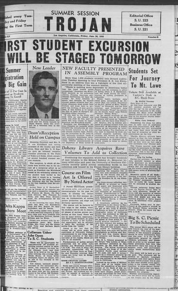 Summer Session Trojan, Vol. 15, No. 2, June 26, 1936