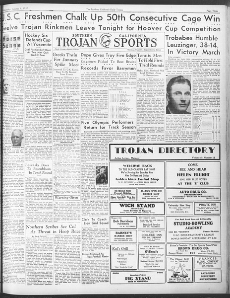 Daily Trojan, Vol. 28, No. 60, January 06, 1937