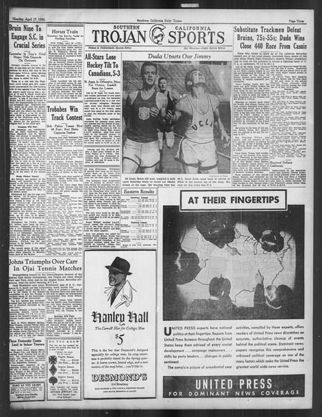 Daily Trojan, Vol. 27, No. 123, April 27, 1936