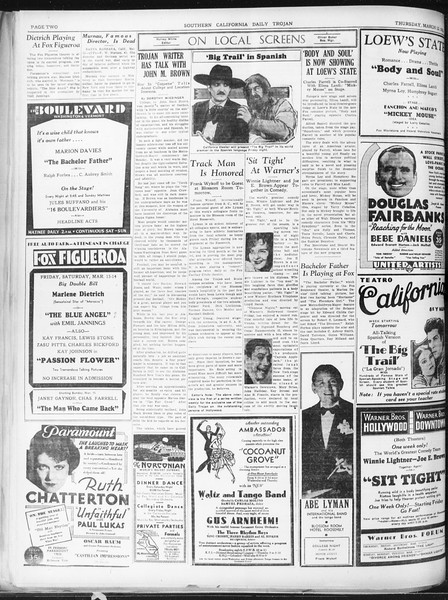 Daily Trojan, Vol. 22, No. 105, March 12, 1931