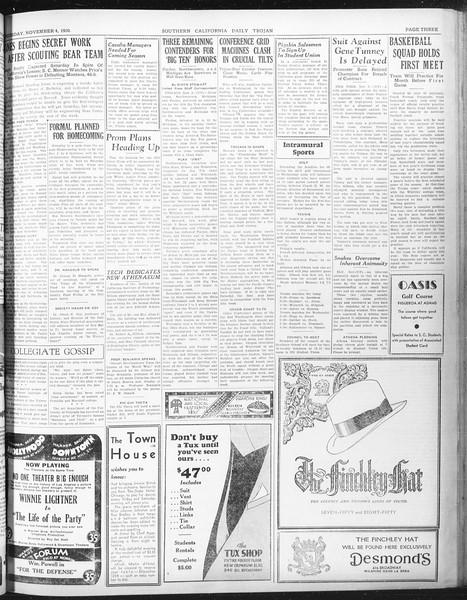 Daily Trojan, Vol. 22, No. 38, November 04, 1930