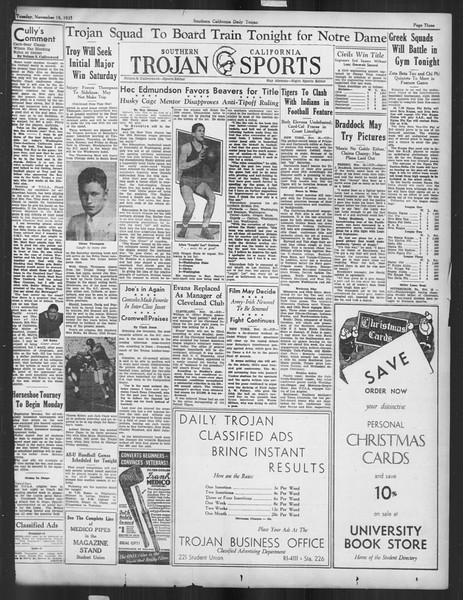 Daily Trojan, Vol. 27, No. 41, November 19, 1935