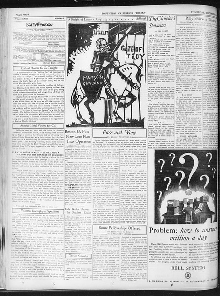 Daily Trojan, Vol. 23, No. 56, December 03, 1931