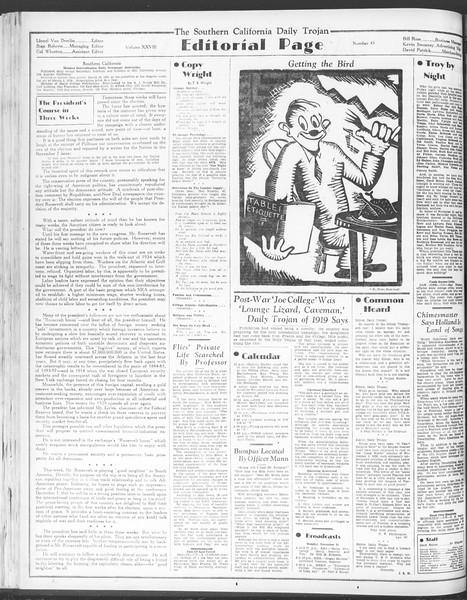 Daily Trojan, Vol. 28, No. 45, November 23, 1936