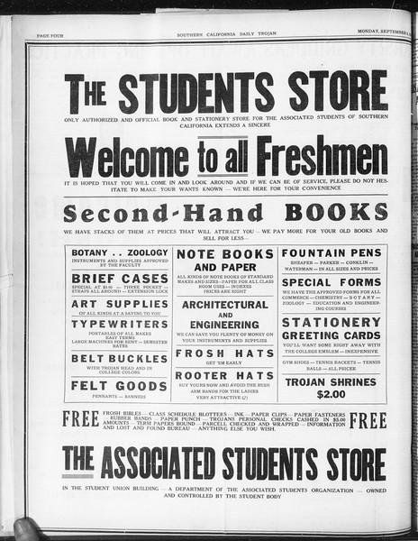 Daily Trojan, Vol. 22, No. 1, September 08, 1930