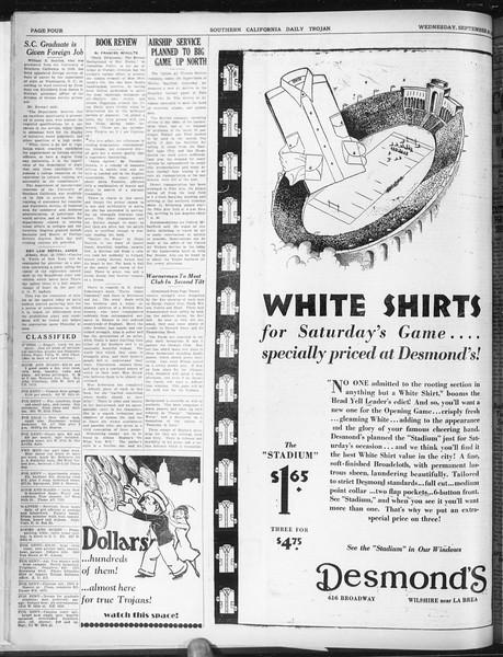 Daily Trojan, Vol. 22, No. 9, September 24, 1930