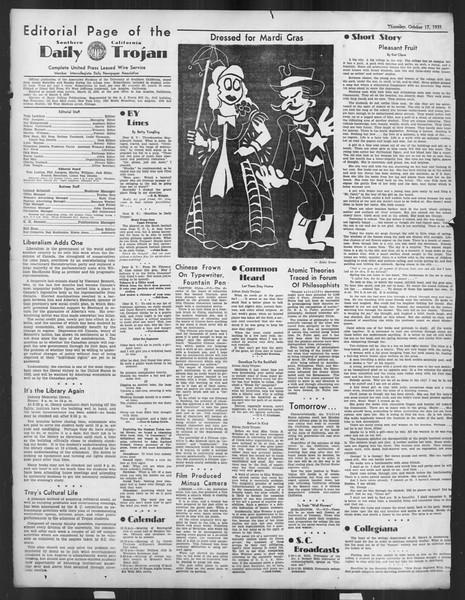 Daily Trojan, Vol. 27, No. 20, October 17, 1935