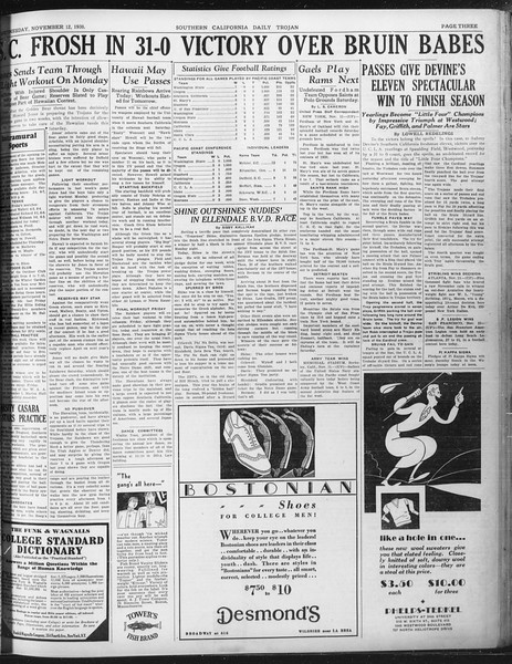 Daily Trojan, Vol. 22, No. 43, November 12, 1930