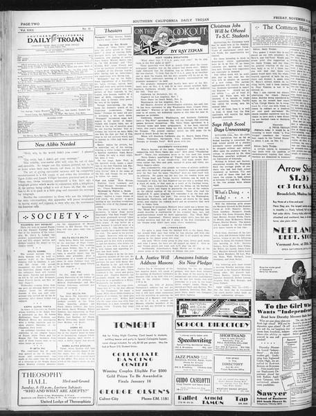 Daily Trojan, Vol. 22, No. 45, November 14, 1930