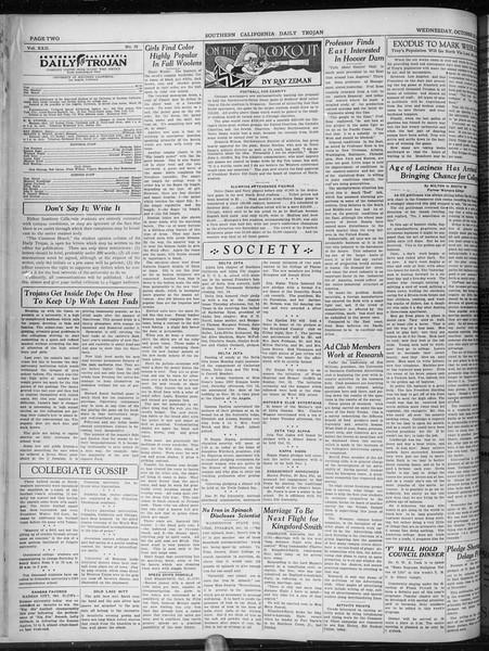 Daily Trojan, Vol. 22, No. 29, October 22, 1930