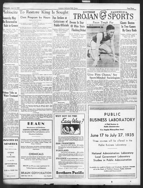 Daily Trojan, Vol. 26, No. 154, June 12, 1935