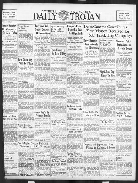 Daily Trojan, Vol. 26, No. 123, April 24, 1935