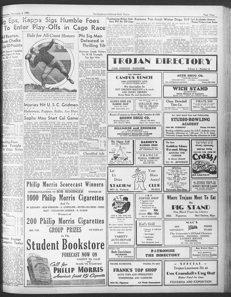 Daily Trojan, Vol. 28, No. 33, November 04, 1936