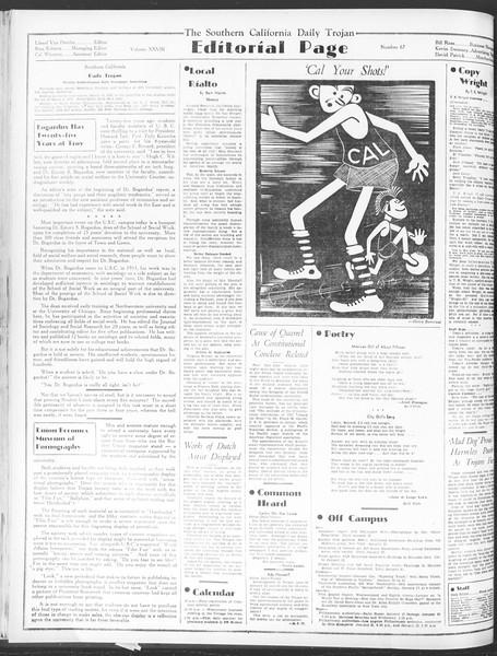 Daily Trojan, Vol. 28, No. 67, January 15, 1937