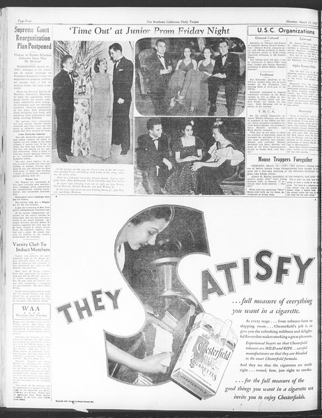 Daily Trojan, Vol. 28, No. 98, March 15, 1937