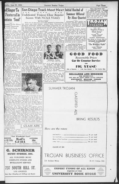 Summer Session Trojan, Vol. 14, No. 3, June 25, 1935