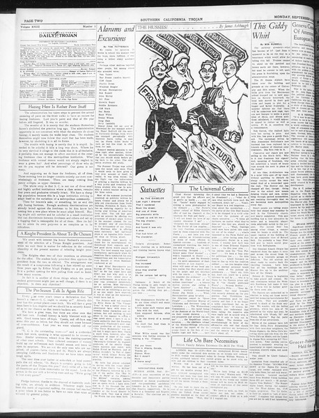 Daily Trojan, Vol. 23, No. 2, September 14, 1931