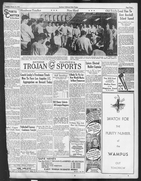 Daily Trojan, Vol. 26, No. 98, March 19, 1935