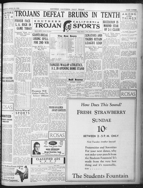 Daily Trojan, Vol. 23, No. 130, April 21, 1932