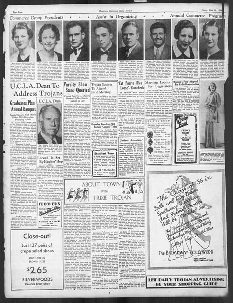 Daily Trojan, Vol. 27, No. 137, May 15, 1936