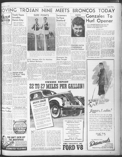 Daily Trojan, Vol. 28, No. 107, April 02, 1937