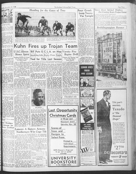 Daily Trojan, Vol. 28, No. 46, November 24, 1936