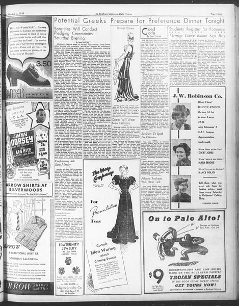 Daily Trojan, Vol. 28, No. 11, October 02, 1936