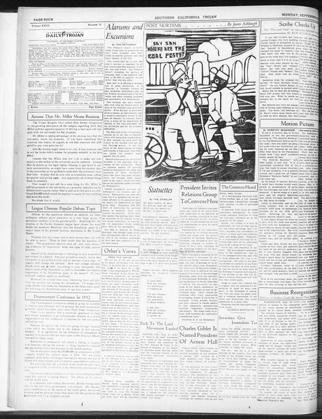 Daily Trojan, Vol. 23, No. 12, September 28, 1931