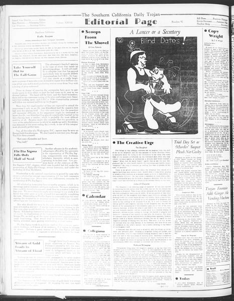 Daily Trojan, Vol. 28, No. 92, March 05, 1937